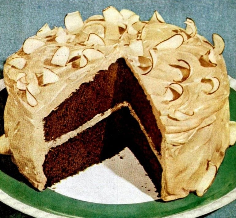 Chocolate rhapsody cake recipe (1949)