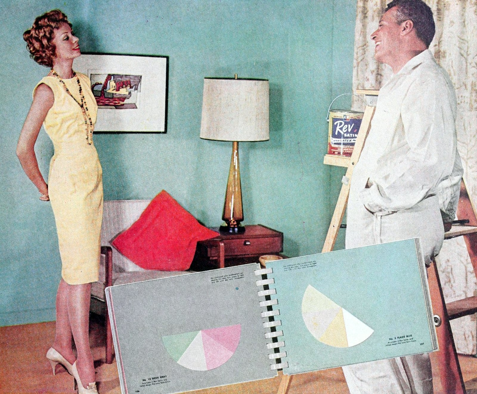 Choosing paint colors for the late 1950s home