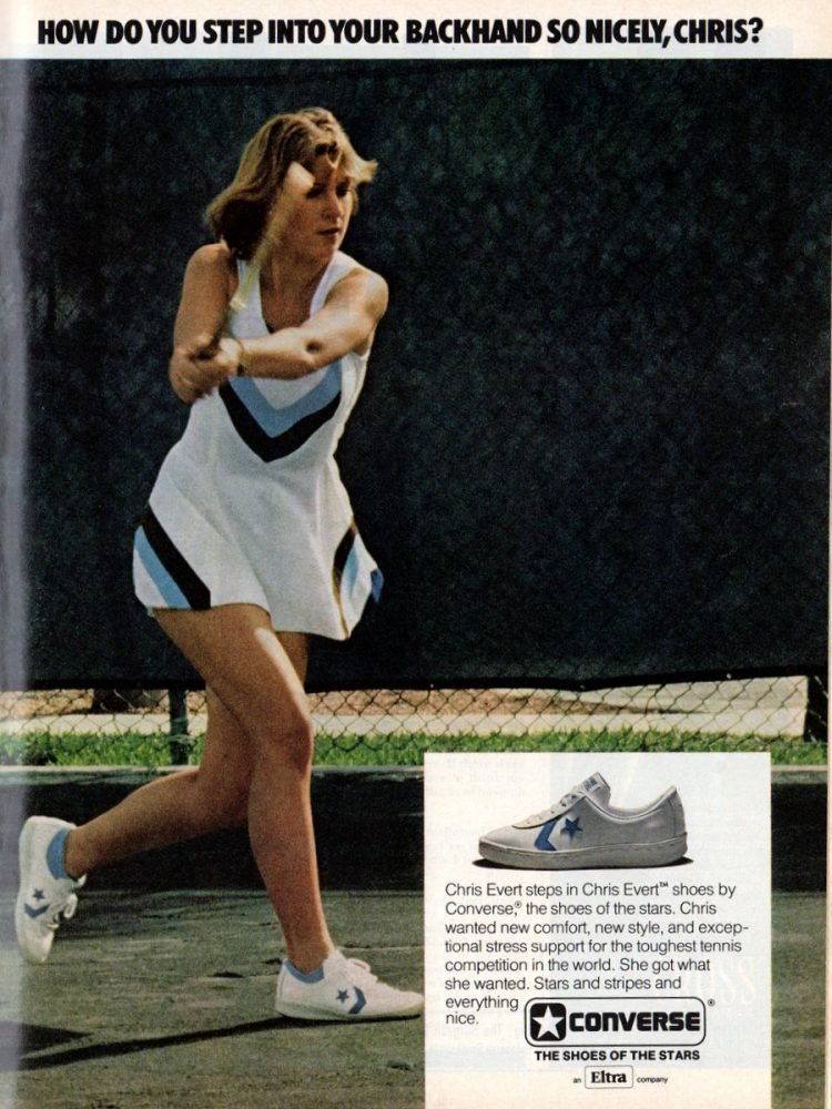Chris Evert shoes by Converse (1977)