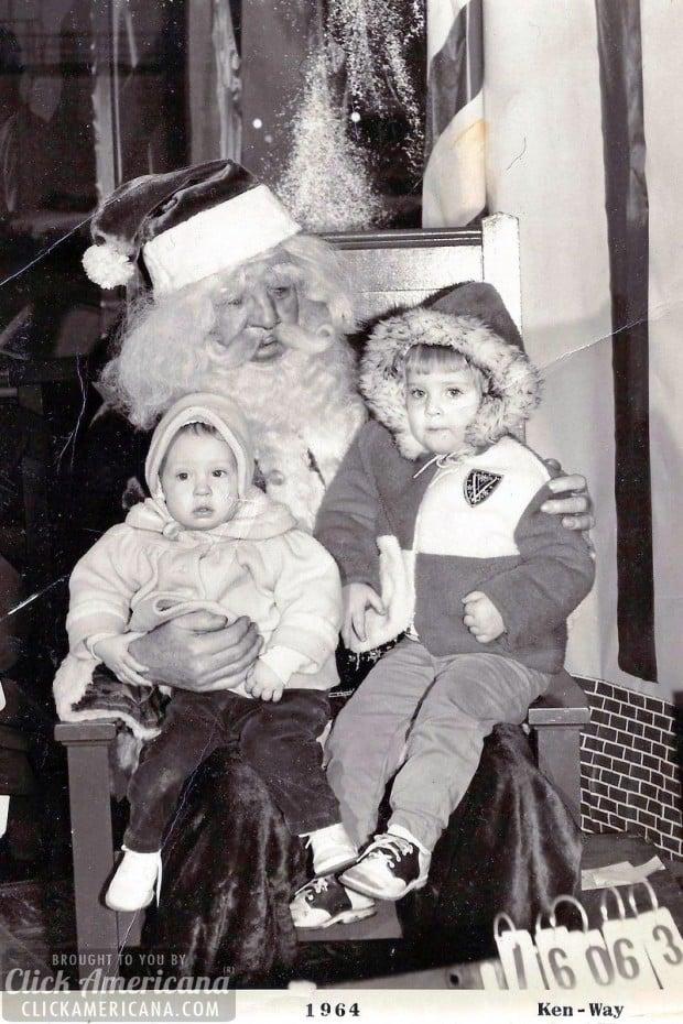 Christmas 1964 with Santa