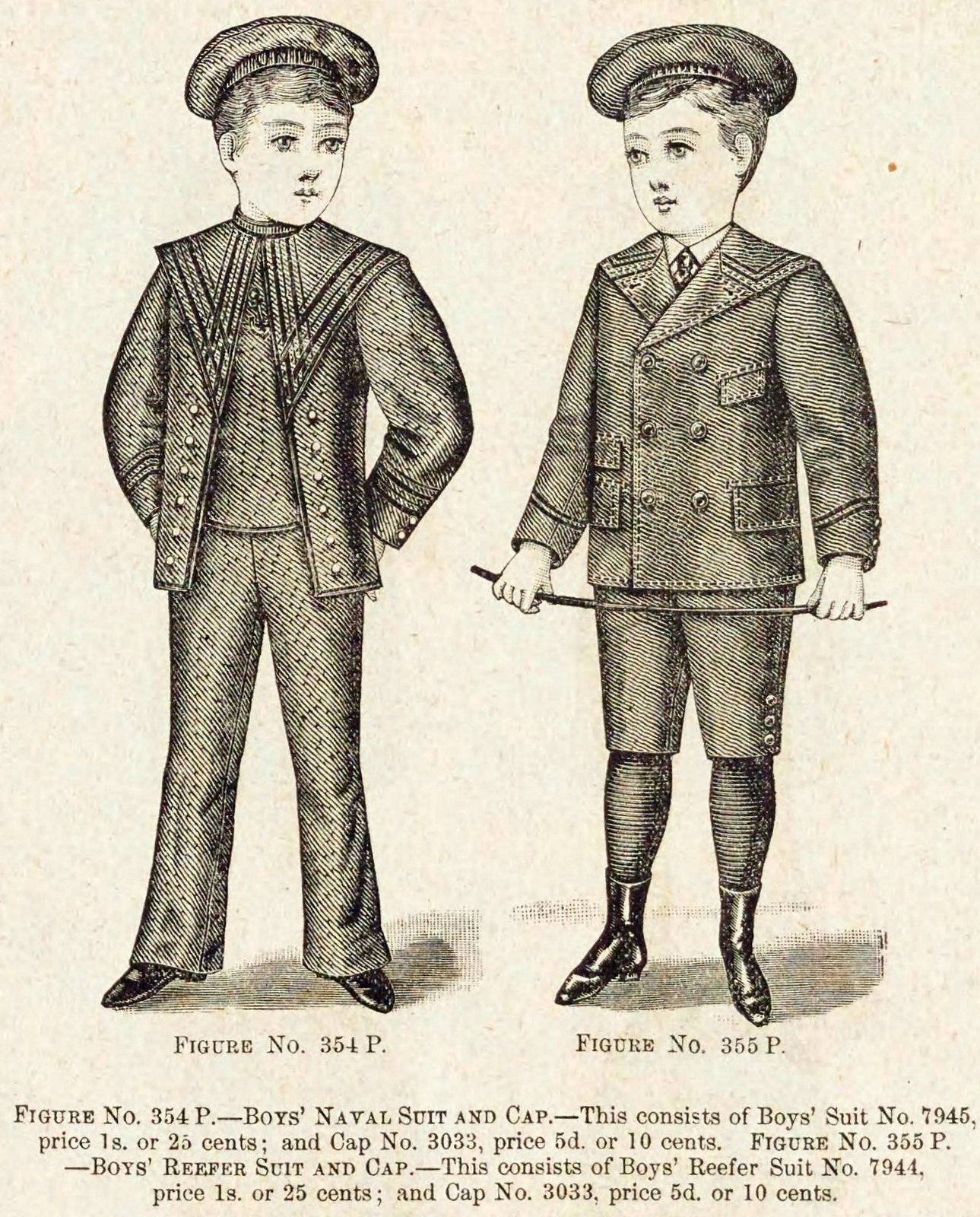 Christmas and winter fashions for Victorian-era boys in the late 1890s (3)