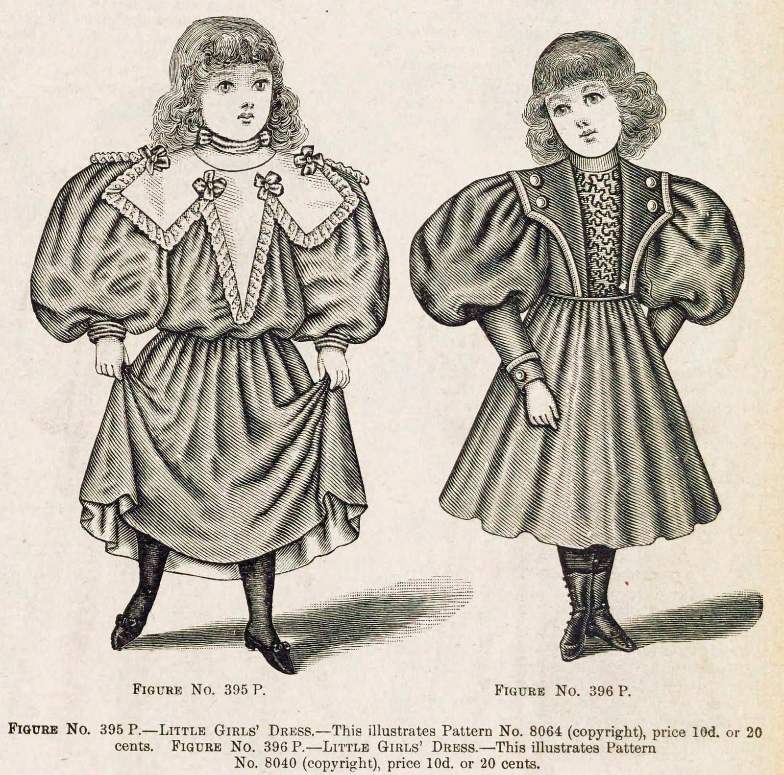 Christmas and winter fashions for Victorian-era girls in the late 1890s (2)