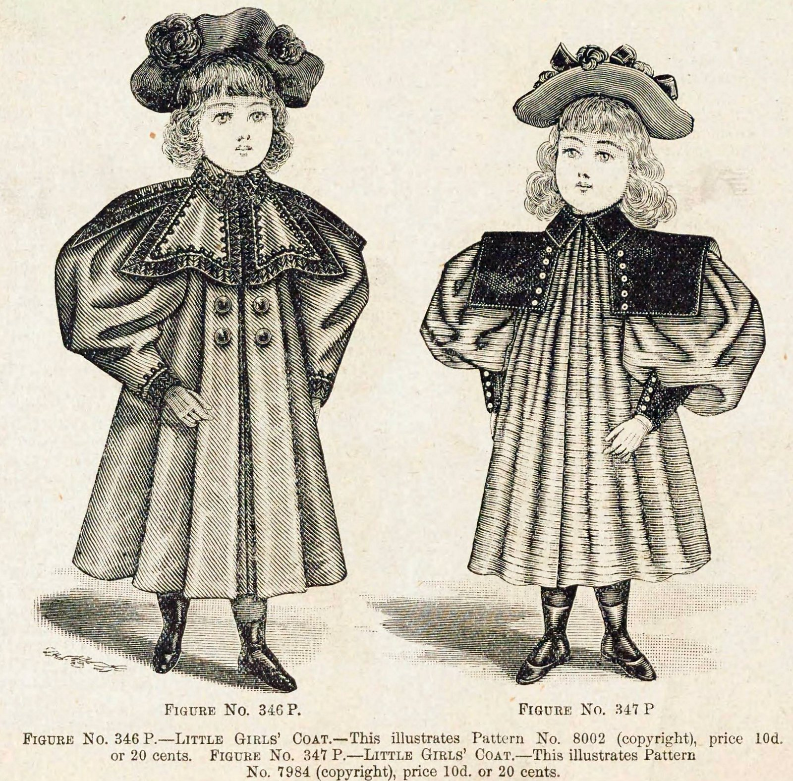 Christmas and winter fashions for Victorian-era girls in the late 1890s (3)