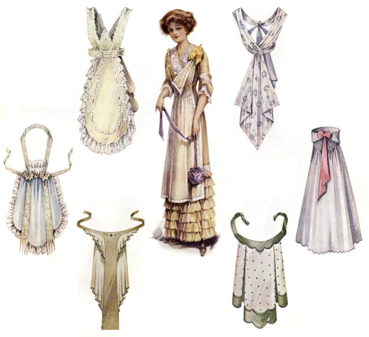 Christmas aprons from 1911