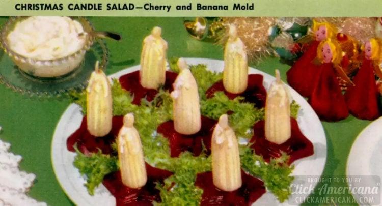Christmas candle salad