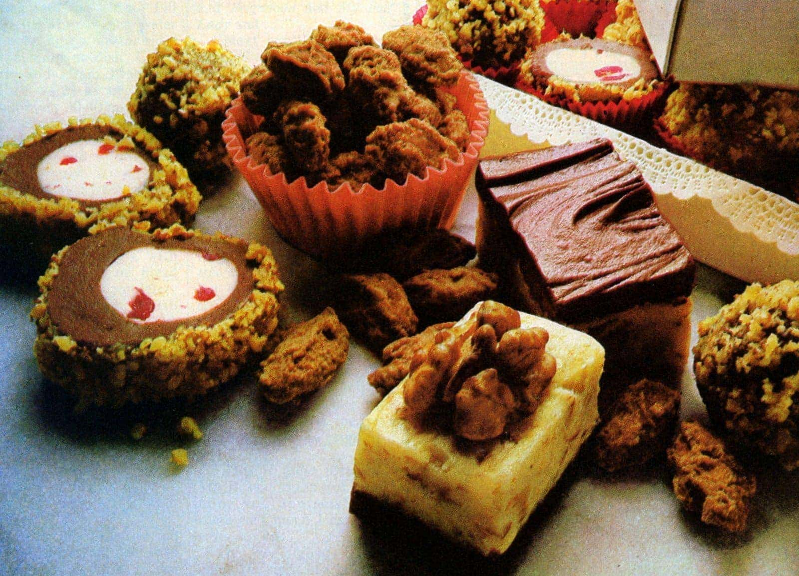 Christmas candy Opera nut creams and crystallized nuts recipes from 1981