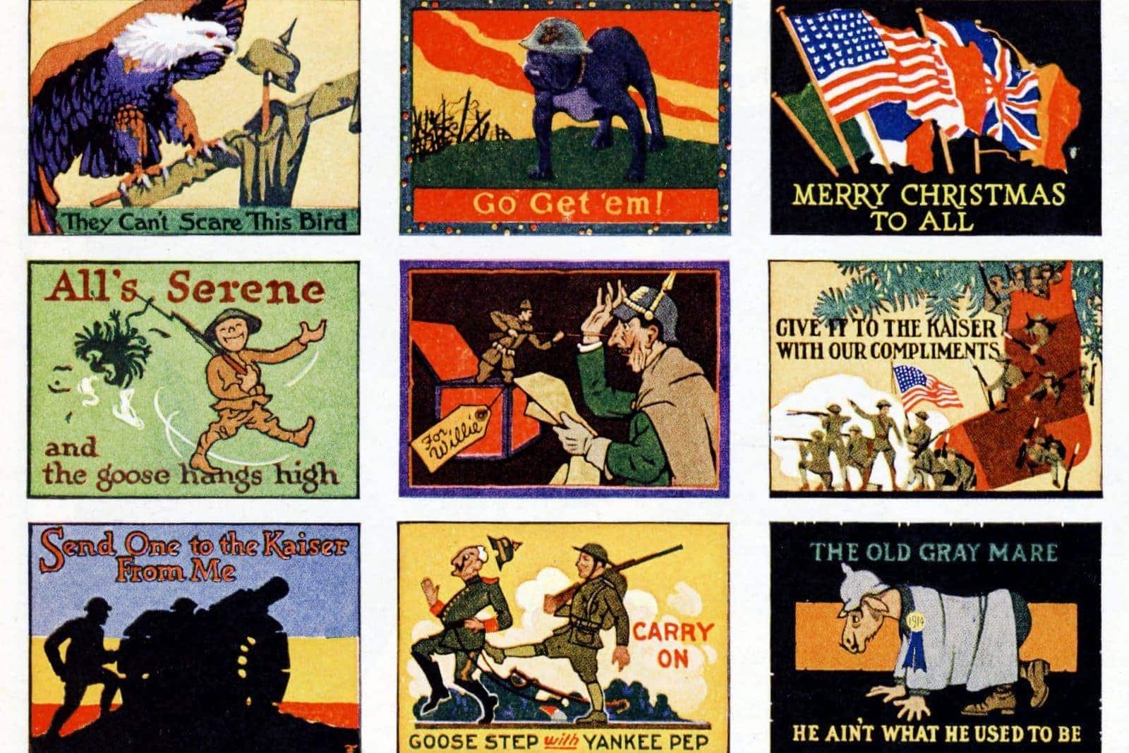 Christmas cards postcards 1918