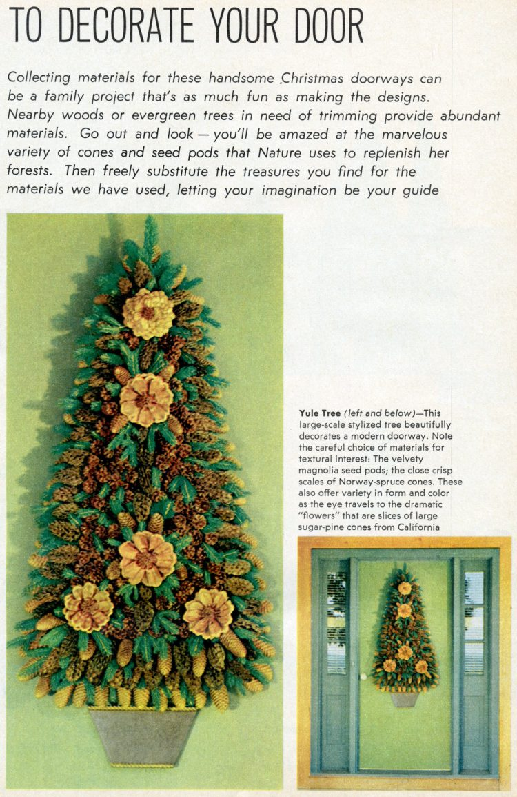 Christmas decor crafts DIY front door 1965