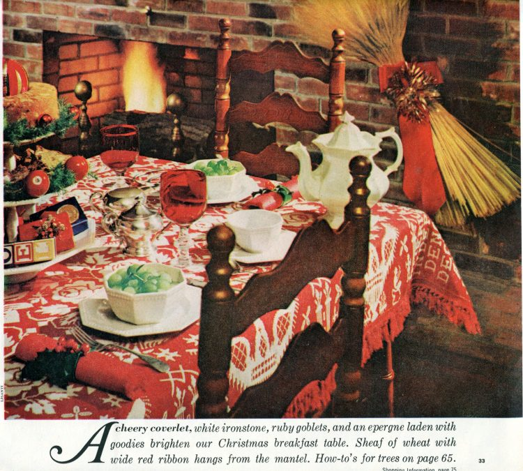 Christmas decor inspiration and tablesettings from 1960 - Retro style (1)
