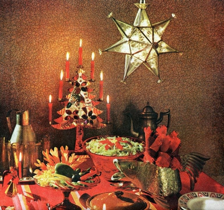 Christmas decor inspiration and tablesettings from 1960 - Retro style (2)