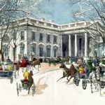 Christmas dinner from the White House (1889)