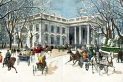 Christmas dinner from the White House (1889)