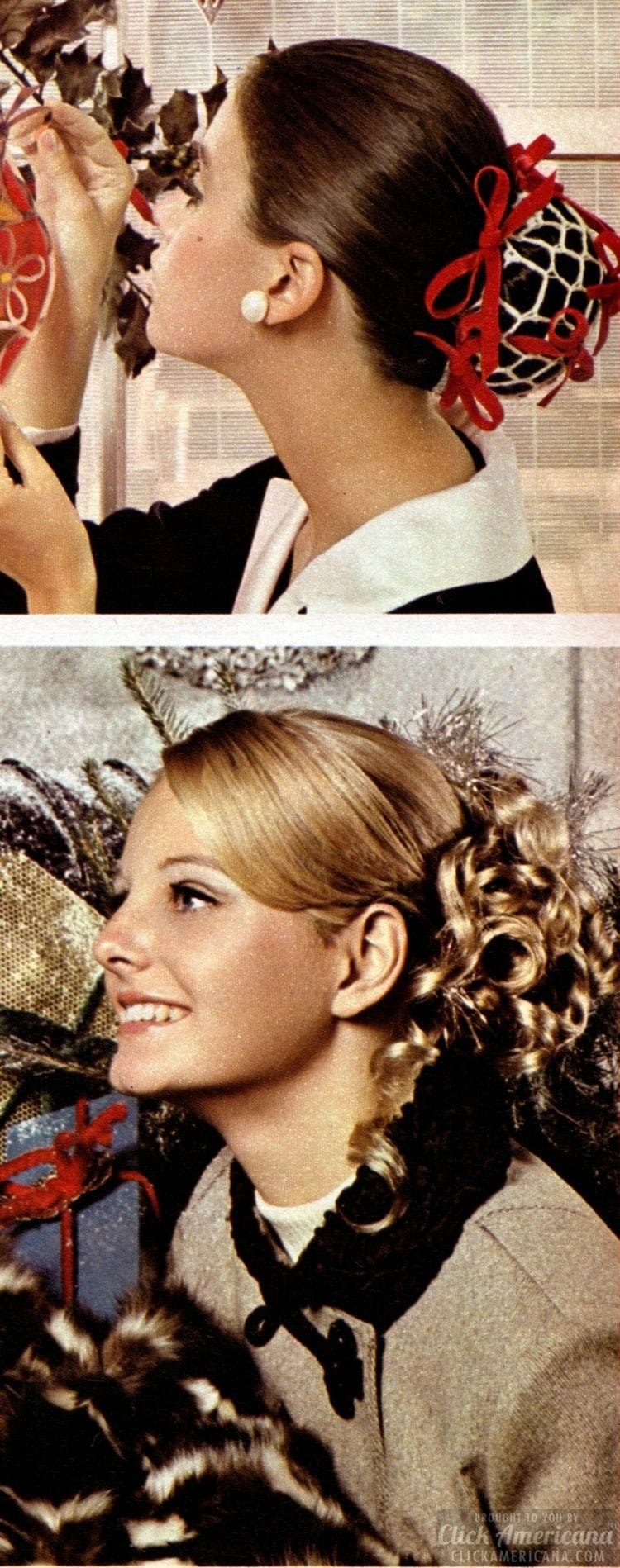 Christmas hairstyles - Fashion from Seventeen - December 1968