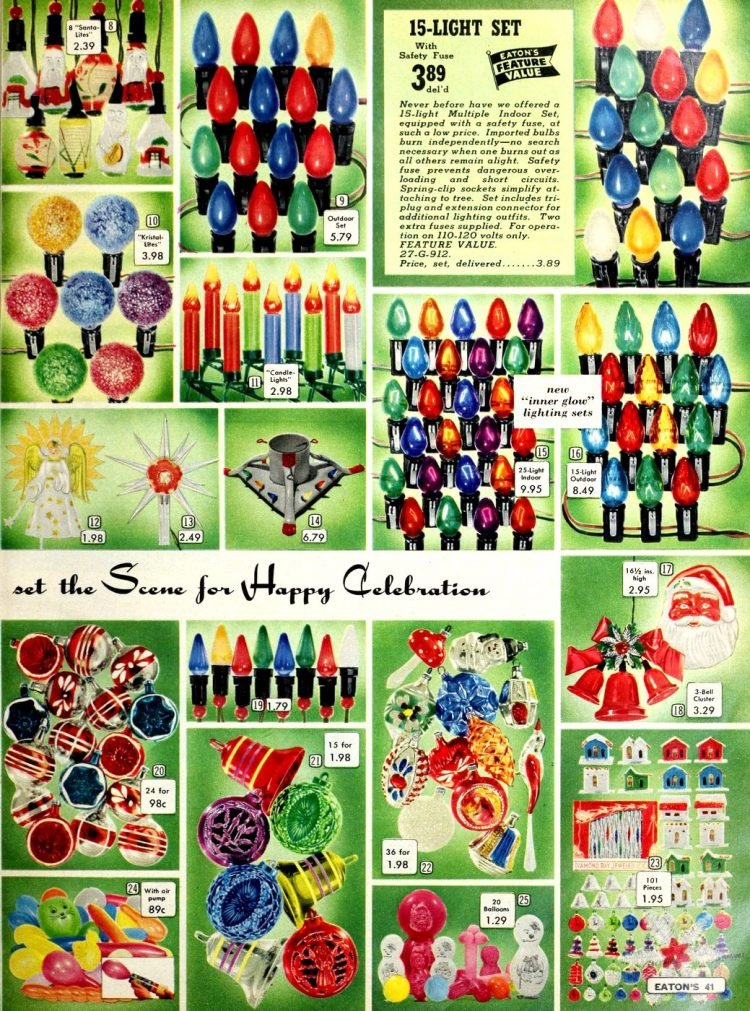 Christmas lights 1958