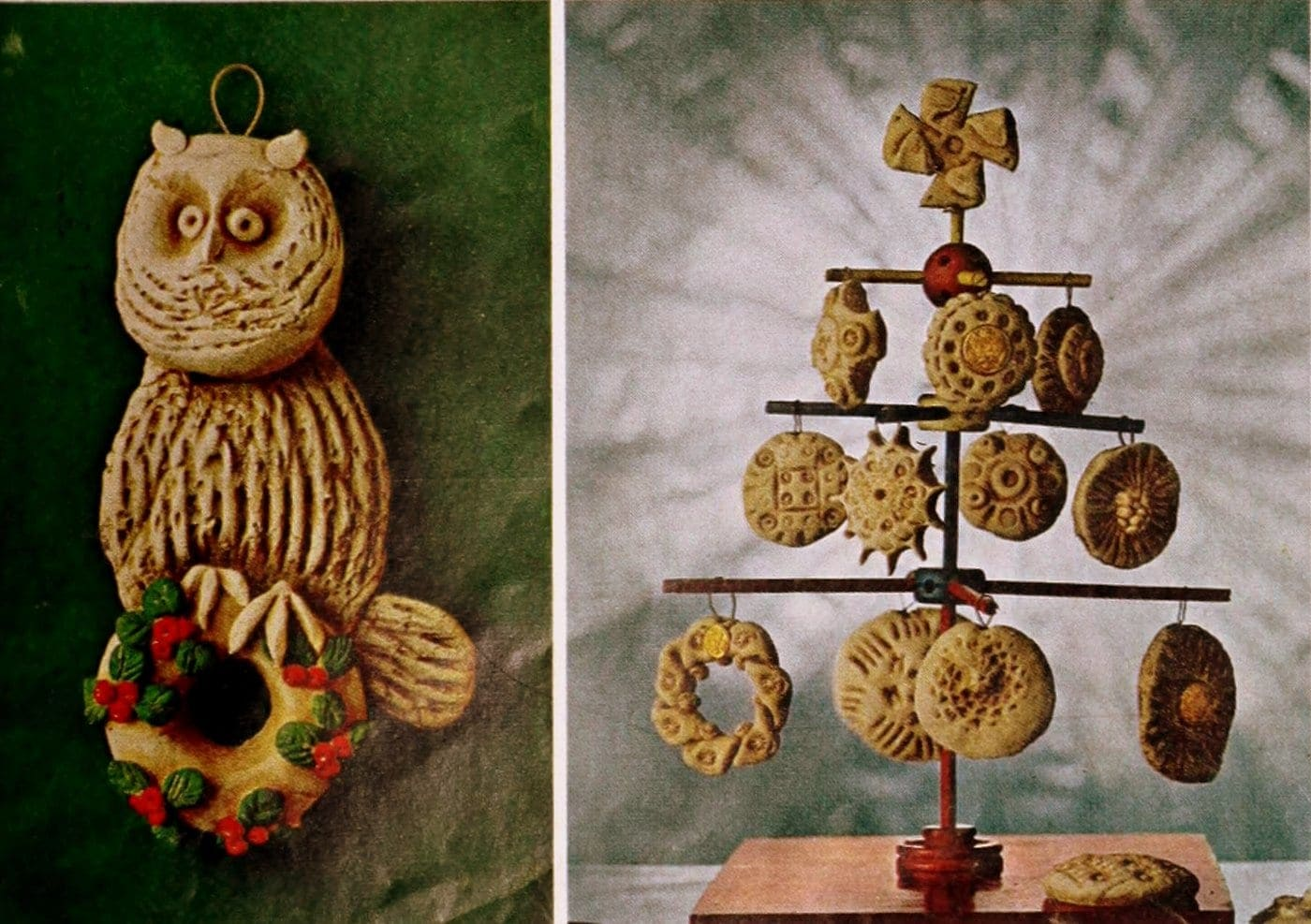 Christmas salt dough ornaments - 1964 craft guide (12)