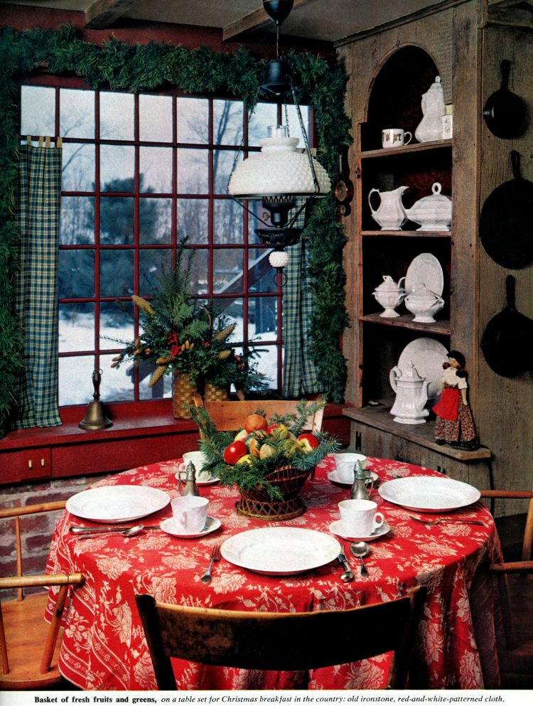 Christmas table decor from 1962