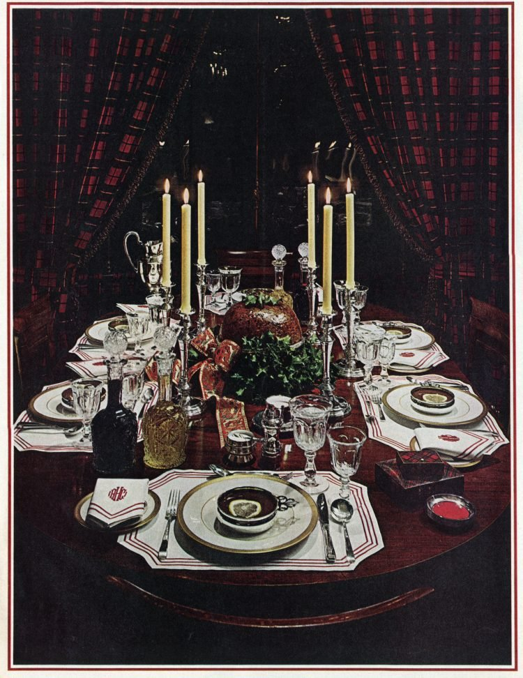 Christmas table from 1964