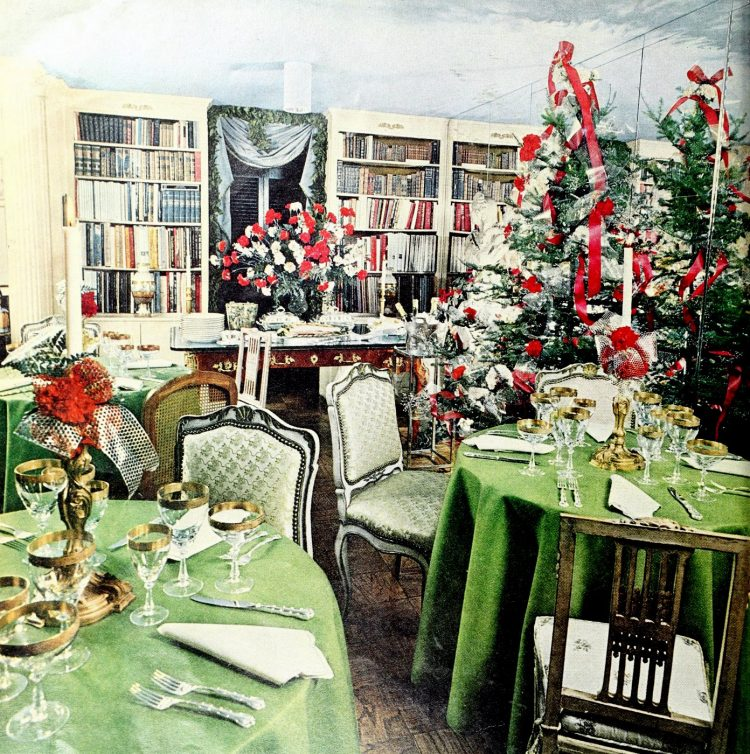 Christmas table setting ideas from 1972