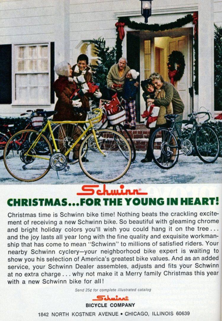 Christmas time is Schwinn bike time 1972