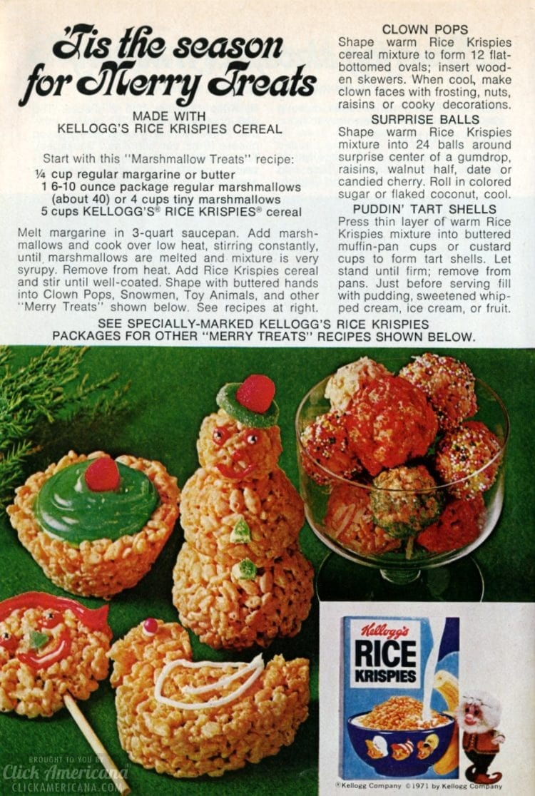 Christmas 'tis the season for Merry Rice Krispies Treats 70s