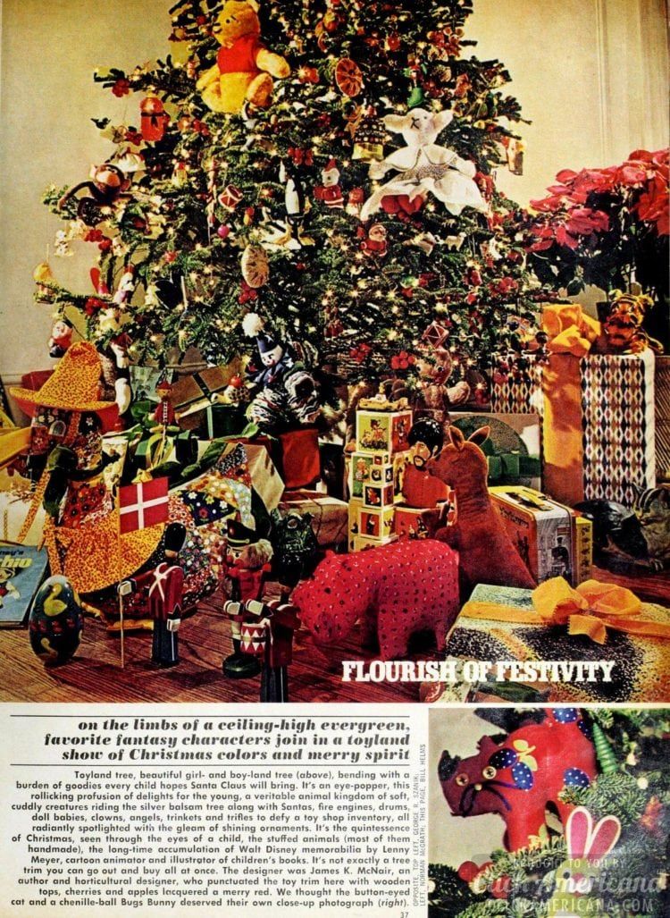 Flourishes of festivity: Vintage Christmas trees from 1974 ...