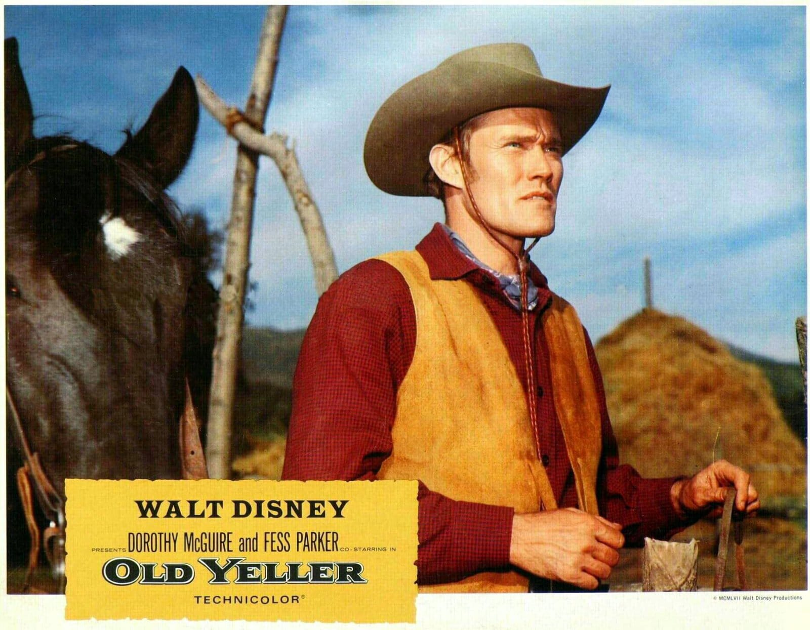 Chuck Connors in Old Yeller movie