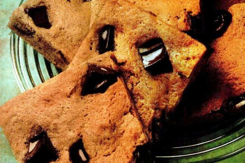 Chunky chocolate cookie squares - Vintage recipe from Sep 1987