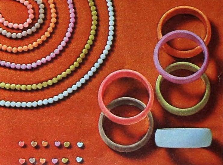 Chunky retro bangle bracelets from the 80s (5)