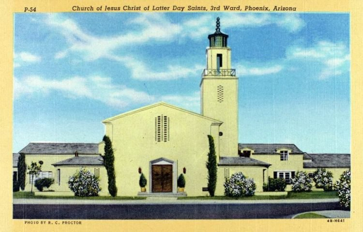 Church of Jesus Christ of Latter Day Saints 3rd Ward Phoenix Arizona 1944