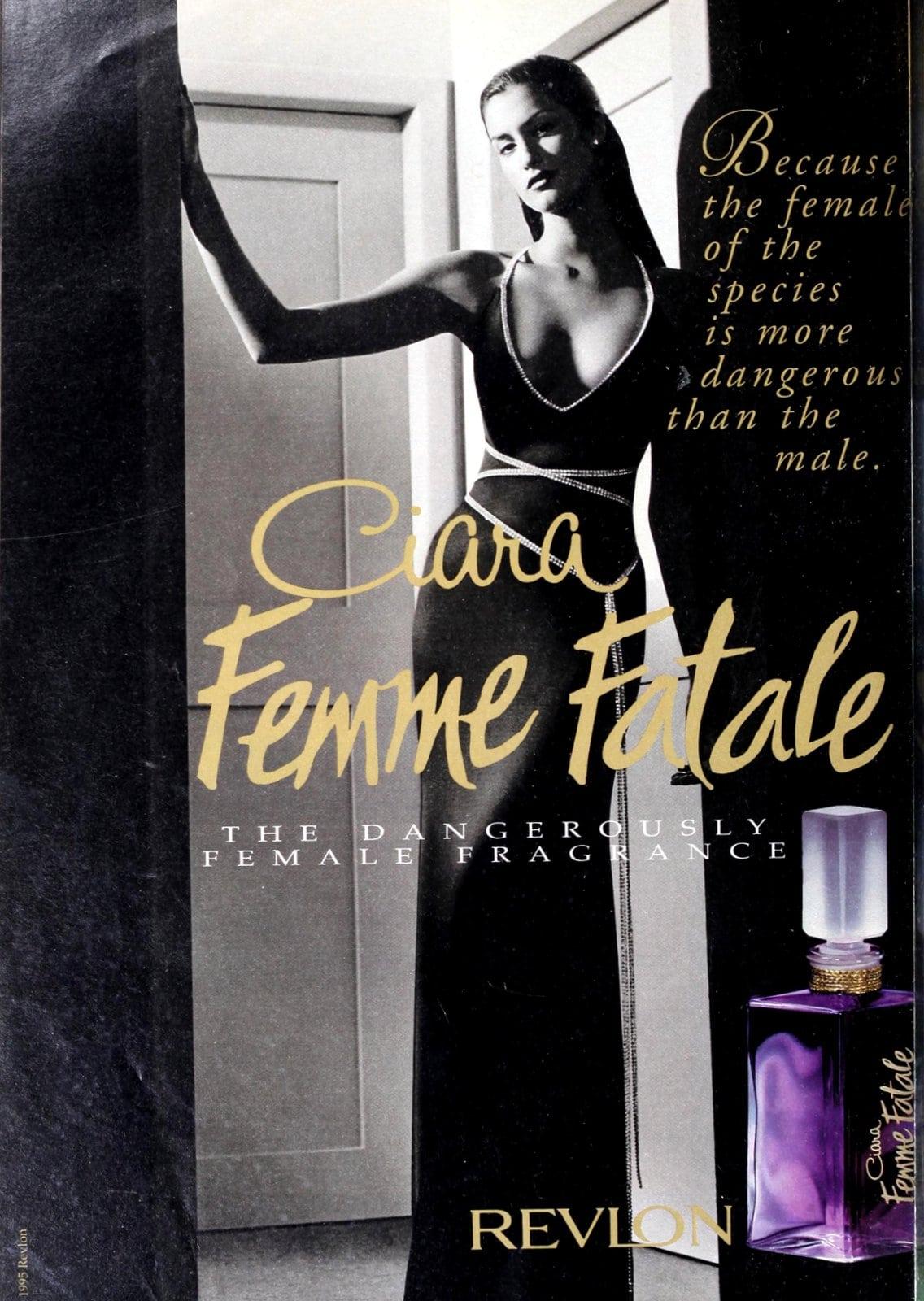Ciara Femme Fatale fragrance from Revlon (1995) at ClickAmericana.com