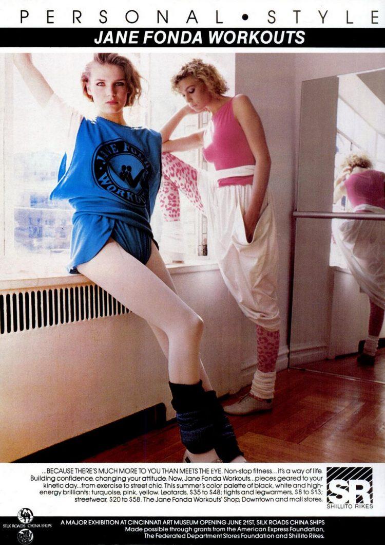 Cincinnati Magazine Jun 1984 Jane Fonda workout clothing - Fashion