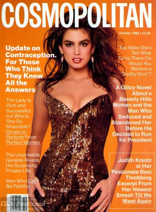 Cindy Crawford cosmopolitan cover oct 1988