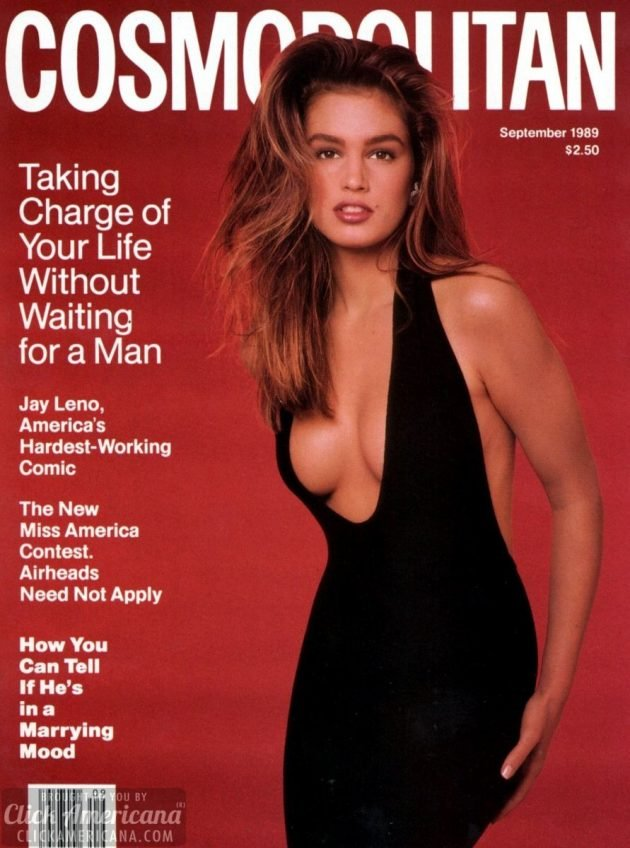 Cindy Crawford cosmopolitan cover sept 1989