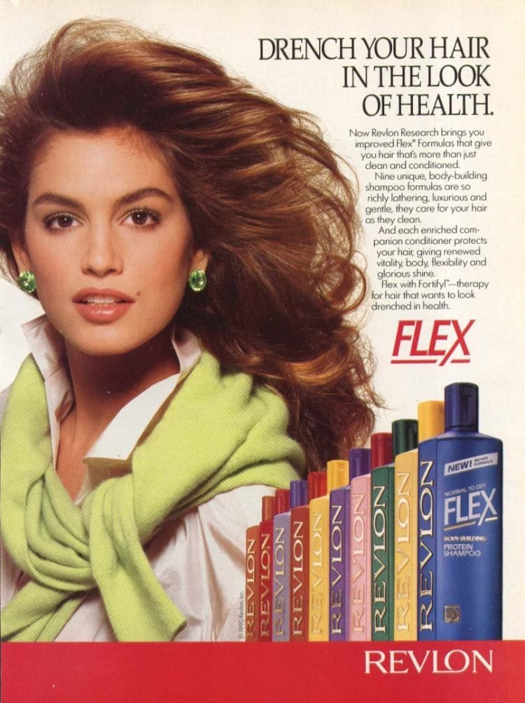 Cindy Crawford for Flex with Fortifyl - 1980s