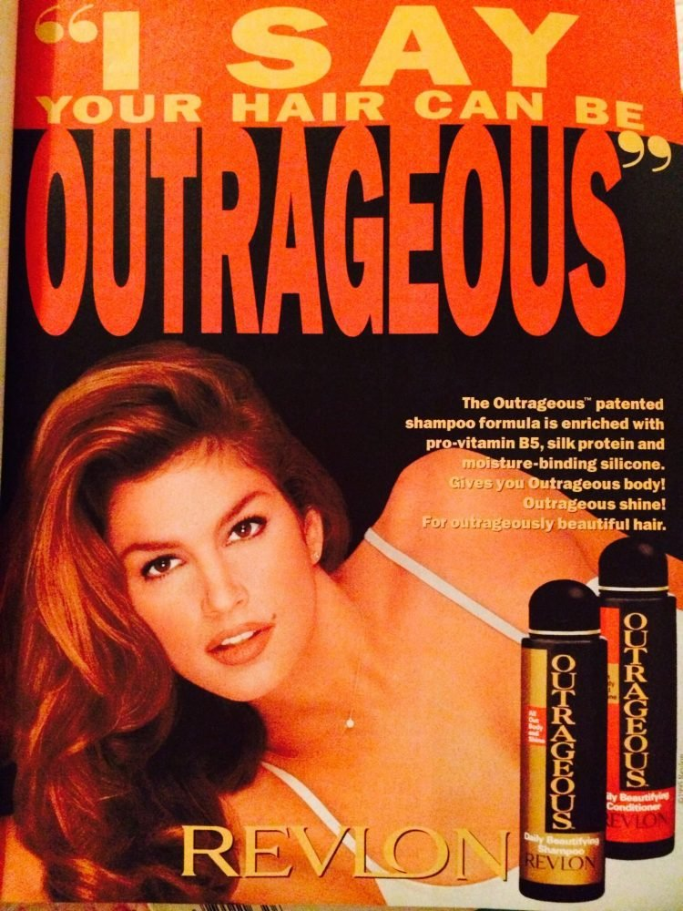 Cindy Crawford for Revlon Outrageous vintage shampoo and conditioners