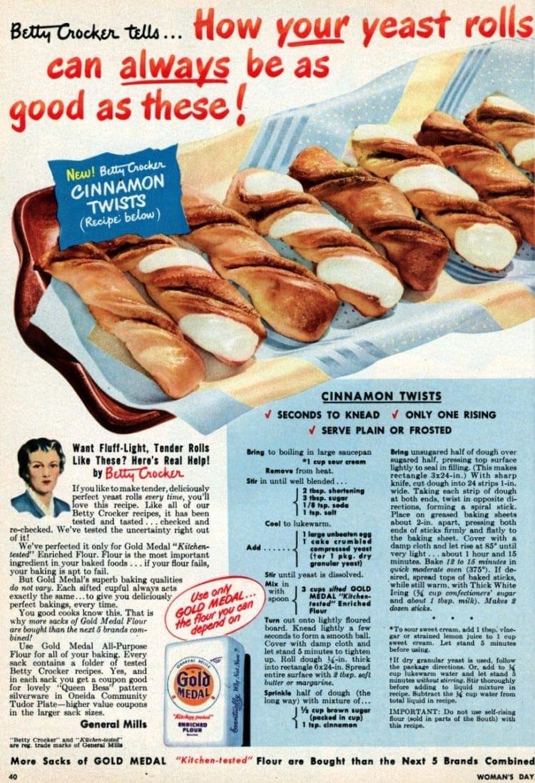 Cinnamon twists Classic yeast breakfast rolls - 50s style (3)