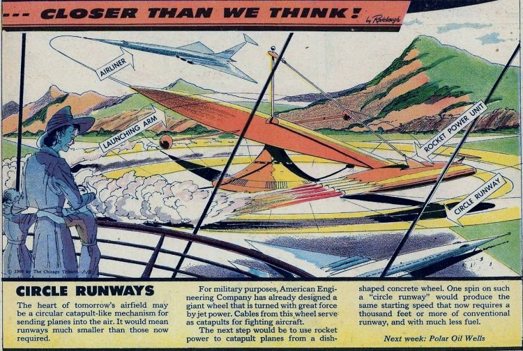 Circle runways- Futuristic vintage invention