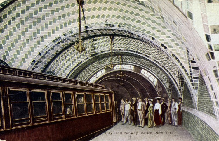 City Hall Subway Station, 1906 -New York City for a career