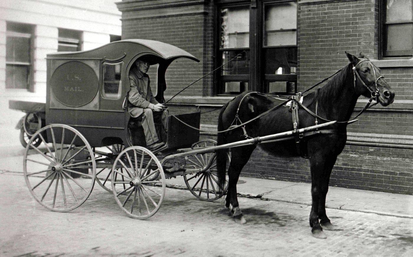 City mail wagon - USPS 1905