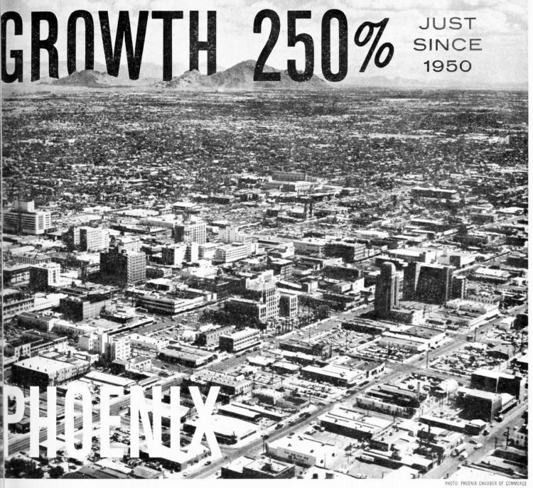 City of Phoenix Arizona in 1957