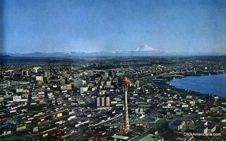 City view of Seattle, Washington in 1967