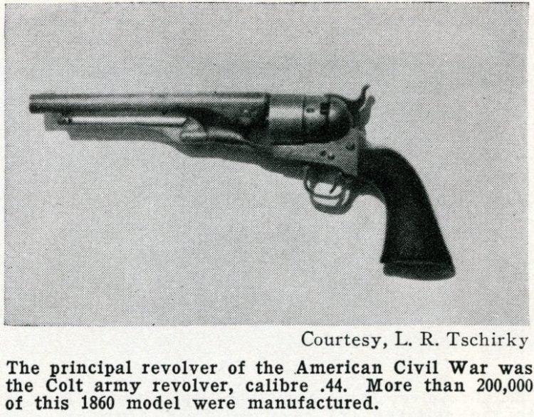 Civil War era Colt Army Revolver 44 caliber - 1660 model gun
