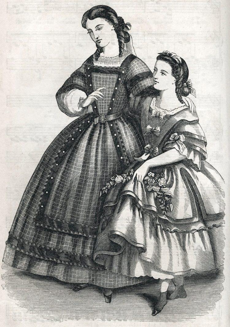Civil War-era dresses - Antique fashion from 1862 (2)