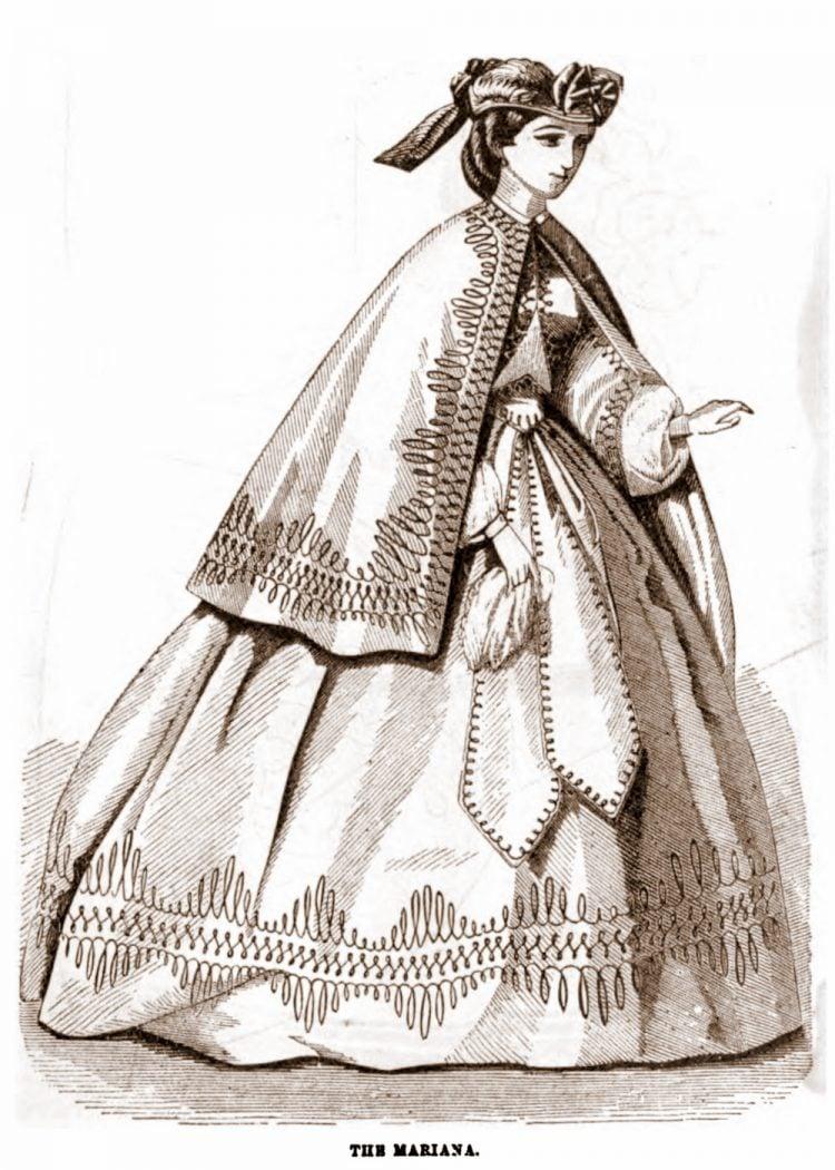 Civil War-era dresses - Antique fashion from 1862 (3)