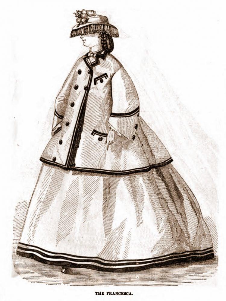 Civil War-era dresses - Antique fashion from 1862 (4)