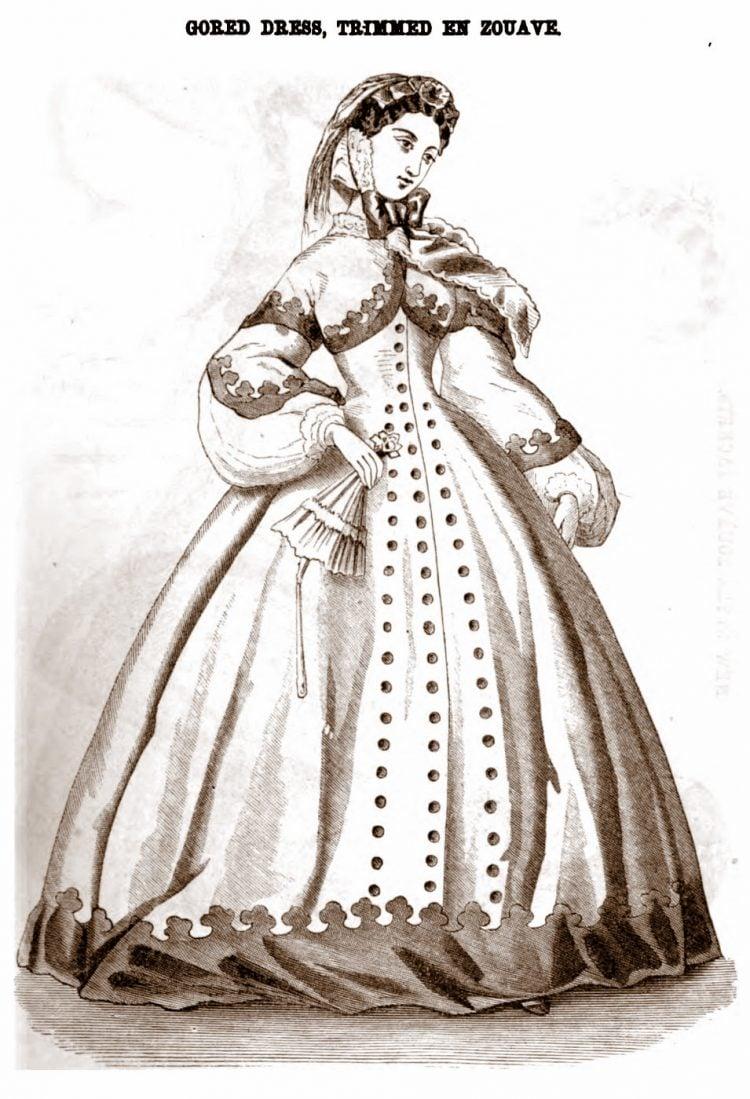 Civil War-era dresses - Antique fashion from 1862 (8)
