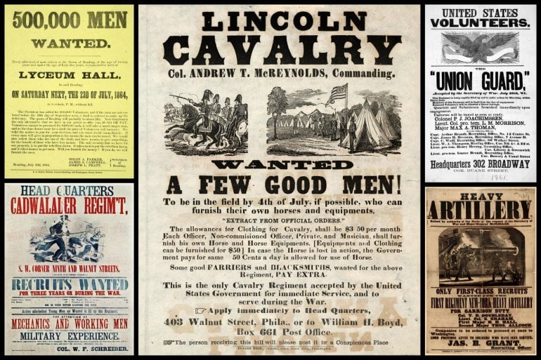 Civil War recruitment posters and broadsides