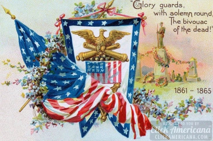 Civil War remembrance - Memorial Day postcard