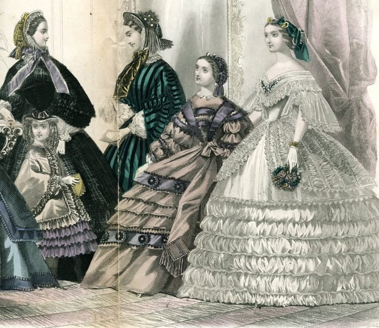 Civil war dresses - Colored fashion plates from 1861 (1)