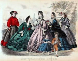 Civil war dresses - Colored fashion plates from 1862 (2)